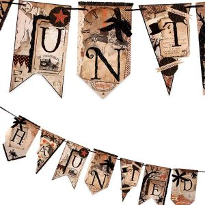 Bethany Lowe HAUNTED into the Woods Pennant Garland