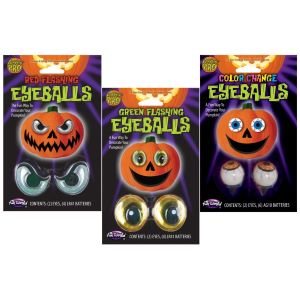 Light Up Pumpkin Eyeballs - 3 Varieties