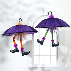 Raz Imports Umbrella with Witch Legs